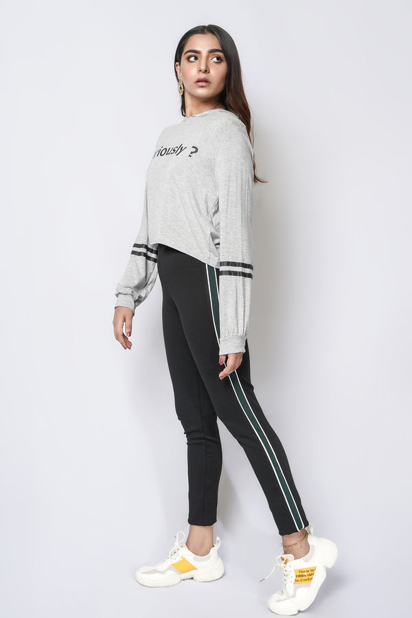 Mantra Pakistan Jeggings with green stripe | Western Wear