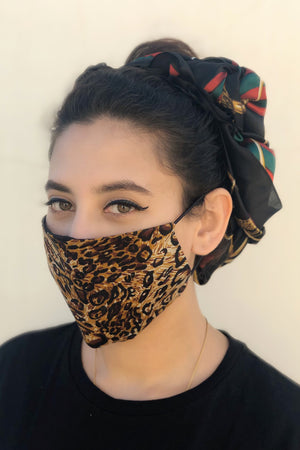 Cheetah Print Mask