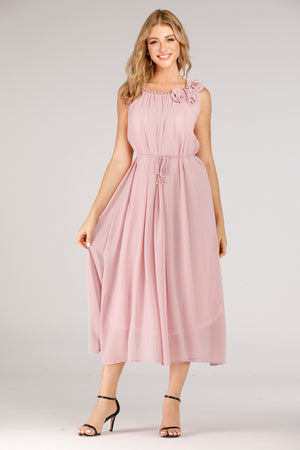 Mantra Pakistan Pink Long Evening Dress | DRESS