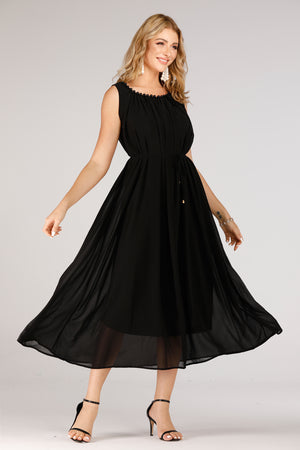 Black Long Evening Dress - Mantra Pakistan