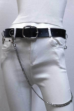 SOLID COLORED BELT WITH SIDE CHAIN