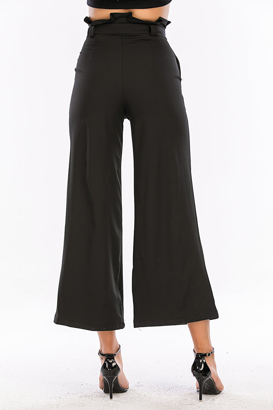 Mantra Pakistan Flare Pants with Daimonate Buckle | Western Wear