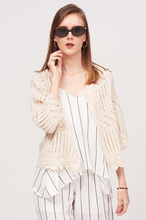 Mantra Pakistan KNITTED SHRUG | TOPS