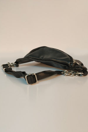 FAUX LEATHER SOLID COLORED FANNY PACK - Mantra Pakistan