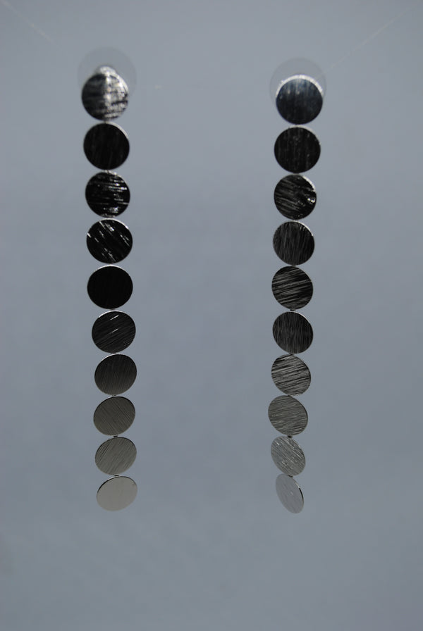 Mantra Pakistan Silver Disc Earrings | ACCESSORIES