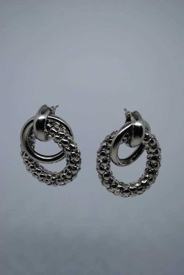 Earrings with Silver Rings