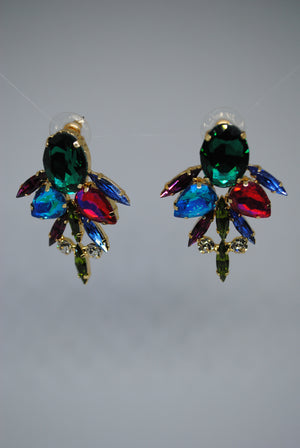 Mantra Pakistan Multi Color Gem Earrings | ACCESSORIES