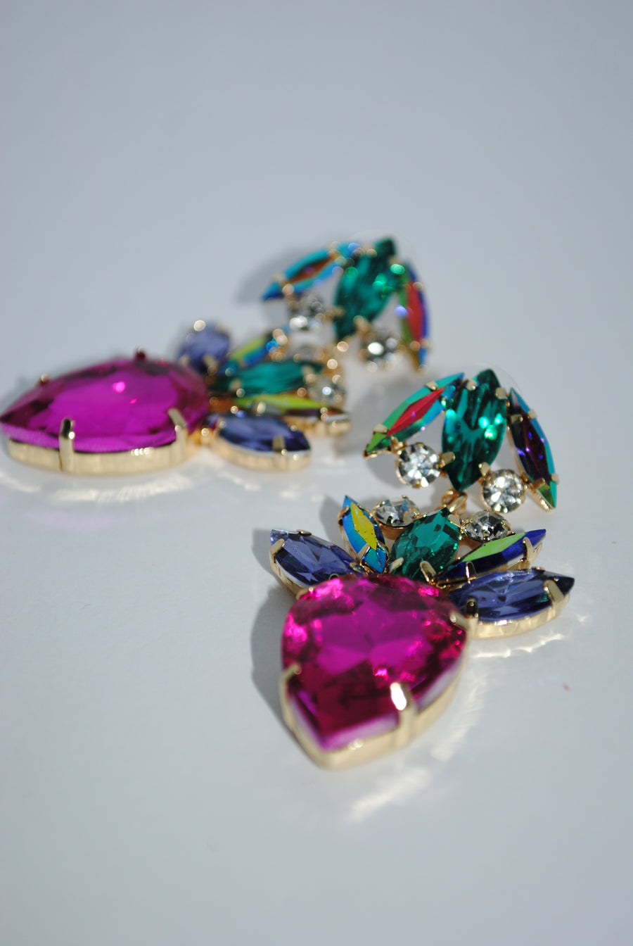 Colorful Gem Drop Earrings