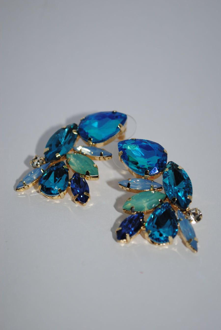 Mantra Pakistan Blue Gem Earrings | ACCESSORIES