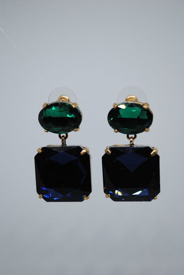 Mantra Pakistan Blue Diamond Earrings | ACCESSORIES