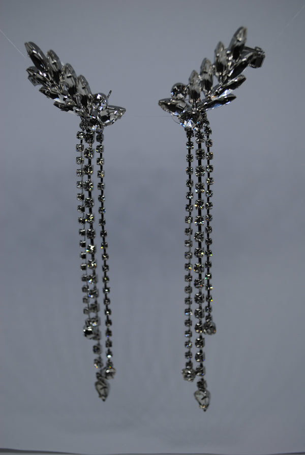 Mantra Pakistan Diamond Leaf Earrings | ACCESSORIES