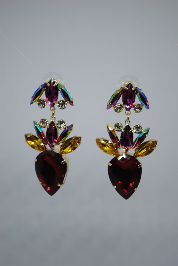 Red Gem Earrings