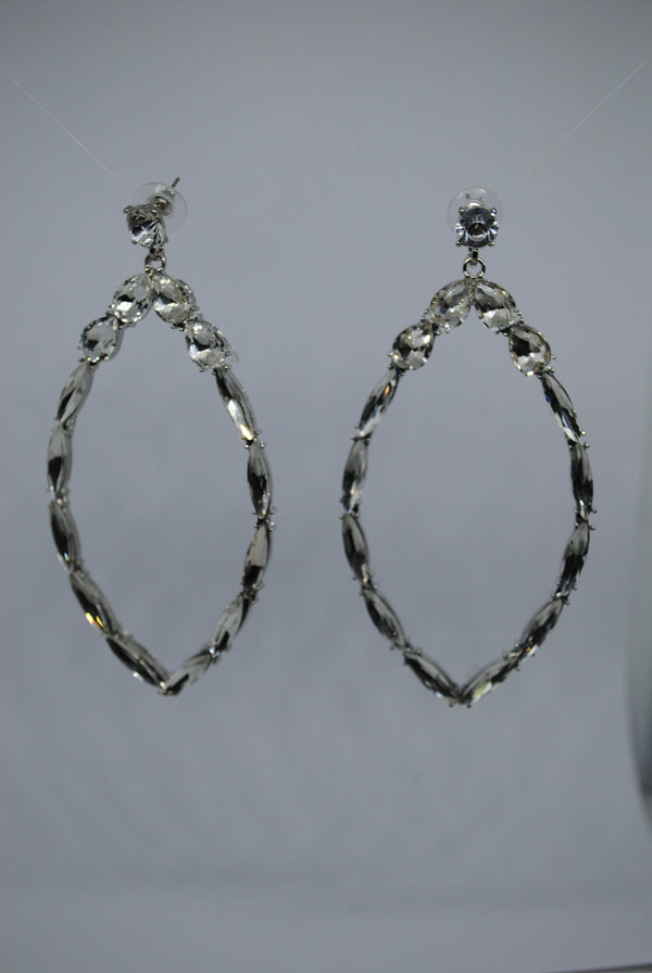 Mantra Pakistan Hollow Eye Diamond Earrings | ACCESSORIES