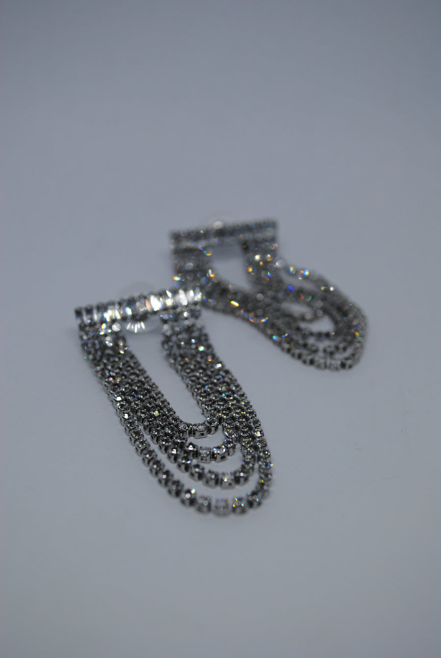 Diamond Layered Earrings