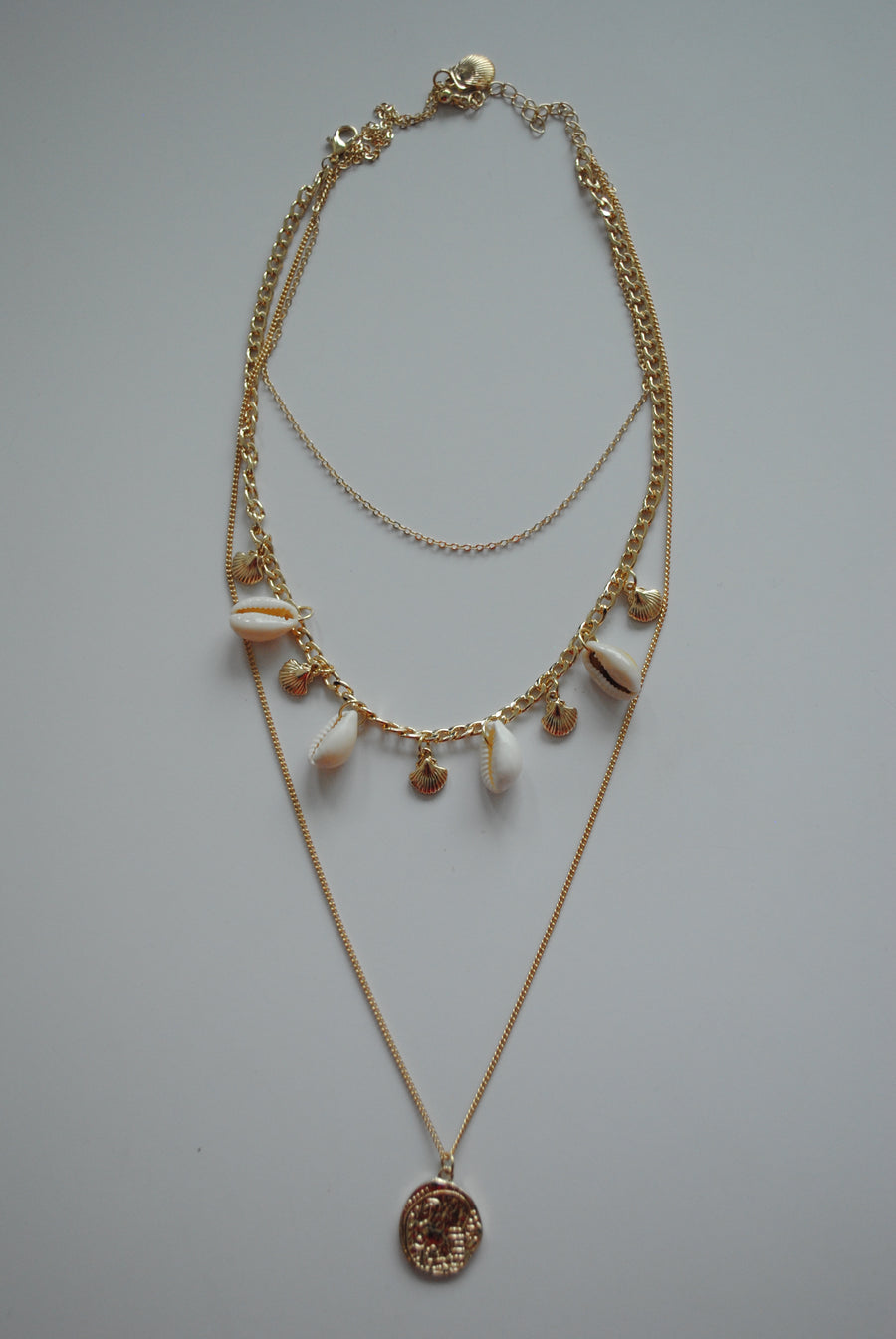 Mantra Pakistan Layered Shell & Chain Necklace | ACCESSORIES