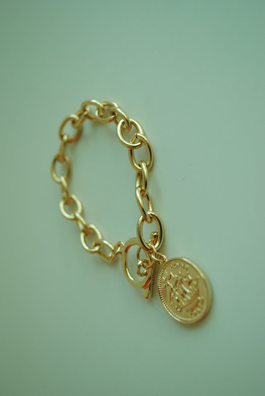 Mantra Pakistan Coin & Chain Bracelet | ACCESSORIES