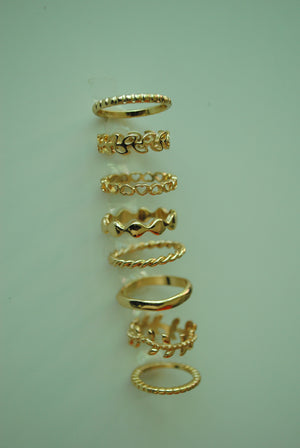 Mantra Pakistan Wavy Ring Set | ACCESSORIES