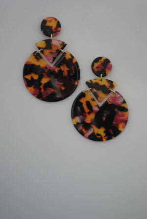 Mantra Pakistan Tortoise Shell Earring | ACCESSORIES