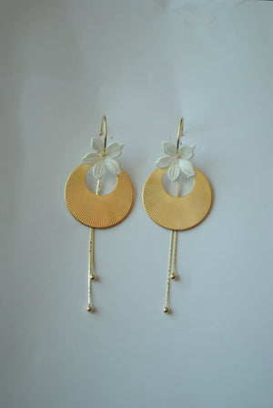 Mantra Pakistan Disc Cutout & Flower Earring | ACCESSORIES