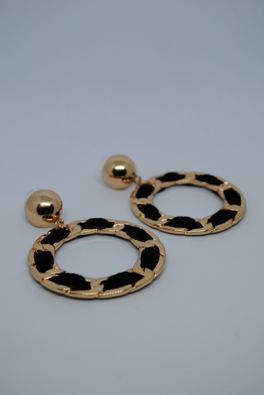 Mantra Pakistan Black & Gold Hoops | ACCESSORIES