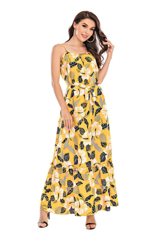 Mantra Pakistan Yellow Floral Dress | Western Wear