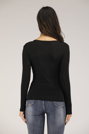 Mantra Pakistan Black Top With Golden Tags | TOPS