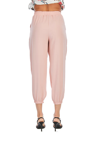 Mantra Pakistan Pink Elasticized Pants |
