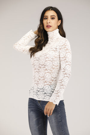 Mantra Pakistan White Lace Top | TOPS