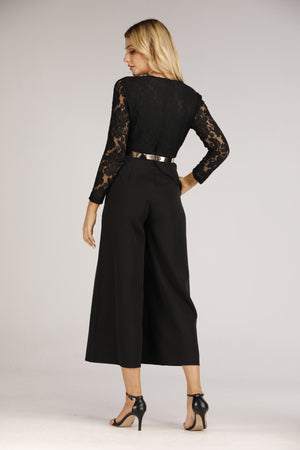 Mantra Pakistan Lace Top Jumpsuit | DRESS