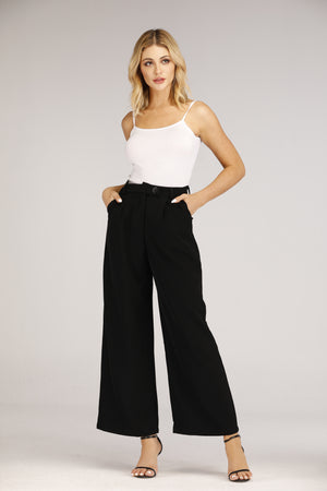 Long Flowy Pants with Button