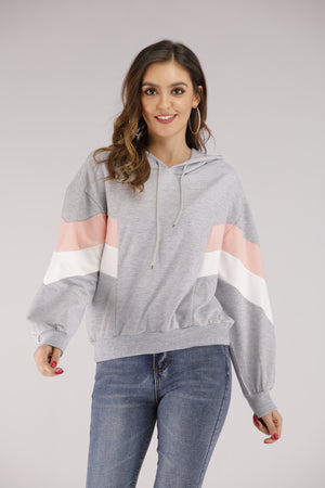 Grey Colourblock Hoodie