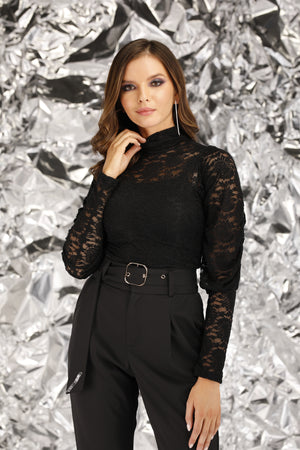 Mantra Pakistan Black Net Top | TOPS