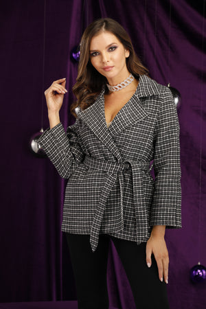 Mantra Pakistan Houndstooth Coat | OUTERWEAR