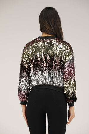 Mantra Pakistan Multi Sequin Sweatshirt | OUTERWEAR