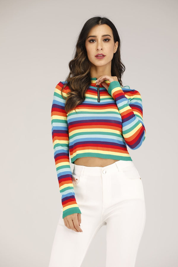 Mantra Pakistan Rainbow Sweater | OUTERWEAR