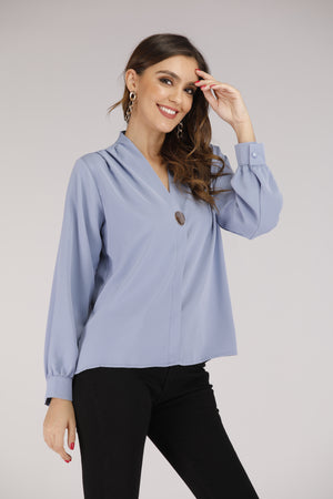 Mantra Pakistan Top with Gold Button | TOPS