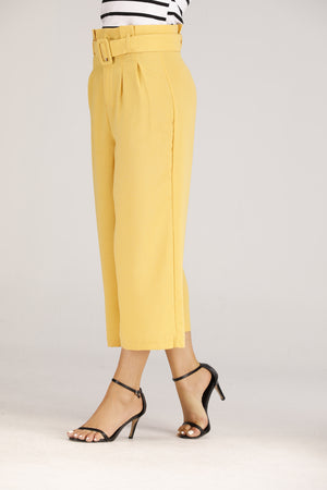 Yellow Pants with Belt