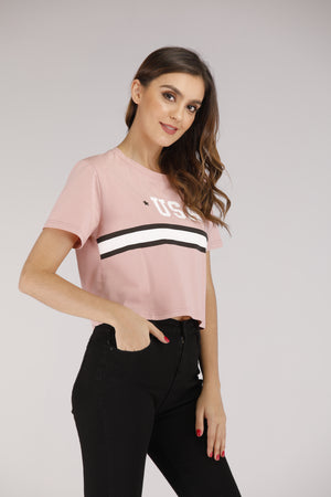Half Sleeves Crop Top