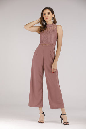 Purple Lace Jumpsuit