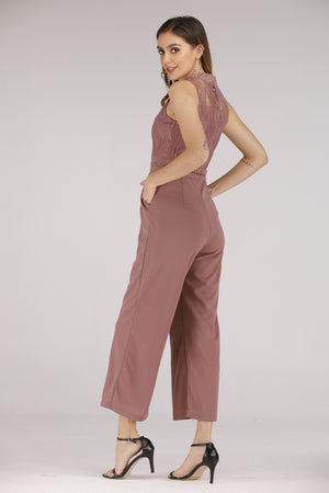 Mantra Pakistan Purple Lace Jumpsuit | DRESS