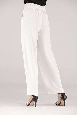 White Pants with White Button