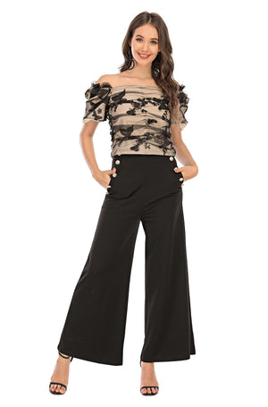 Mantra Pakistan Butterfly Mesh Top | Western Wear