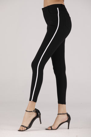 Mantra Pakistan Jogger Pants with Stripe | BOTTOMS