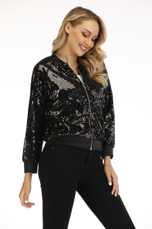 Mantra Pakistan Sequin Bomber Jacket | OUTERWEAR