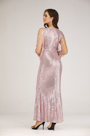 Mantra Pakistan Pink Sequins Mermaid Gown | DRESS