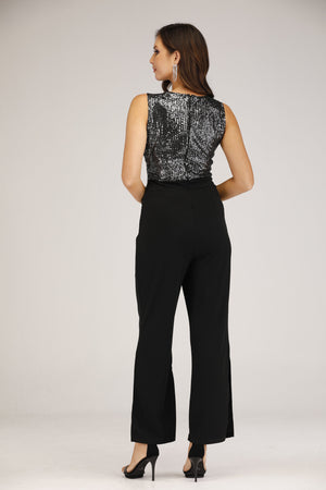 Mantra Pakistan Twist Front Sequins Jumpsuit | DRESS