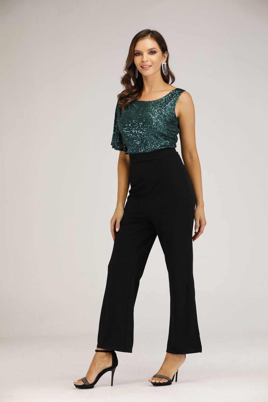 Mantra Pakistan Sequins body Jumpsuit | DRESS