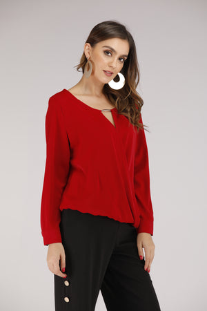 Mantra Pakistan Semi Twisted Top with Metal Hardware | TOPS