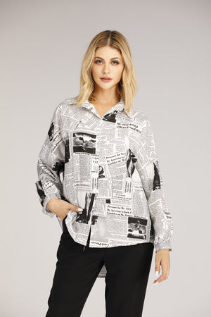 Newsprint Button Down Shirt
