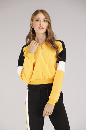 Mantra Pakistan Yellow Pullover Hoodie | OUTERWEAR